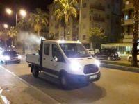 Nusaybin'de böcek ve sinekler karşı ilaçlama çalışması yapıldı