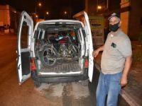 Çalıntı motosikletle sokağa çıkma yasağını ihlal eden şahıs yakalandı