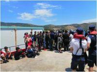 İzmir açıklarında 72 düzensiz göçmen kurtarıldı