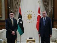 Cumhurbaşkanı Erdoğan, Libya Başkanlık Konseyi Başkanı Serrac'ı kabul etti