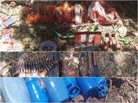 Tespit edilen 24 sığınakta mühimmat ve 55 EYP ele geçirildi