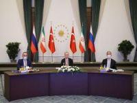 Türkiye, İran ve Rusya üçlü zirvenin ardından ortak basın açıklaması yapıldı