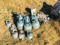 Bitlis'te 11 adet dolu tüp ve yaşam malzemesi ele geçirildi