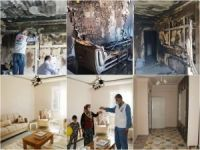 Yetimler Vakfı, evi yanan yetim ailenin evini onardı