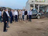 Vali Hacıbektaşoğlu, sanayi sitesinde incelemelerde bulundu
