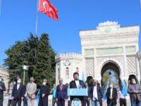 Çin'in Doğu Türkistan işgali 71'inci yılında İstanbul'da protesto edildi