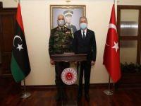 Bakan Akar Libya Genelkurmay Başkanı El-Haddad ile görüştü