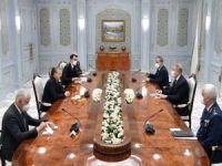 Milli Savunma Bakanı Akar, Özbekistan Cumhurbaşkanı Shavkat Mirziyoyev ile görüştü