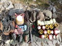 Van'da PKK'ya ait mühimmat ve yaşam malzemesi ele geçirildi
