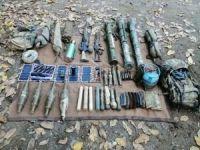Hakkâri'de PKK'ya ait silah ve mühimmat ele geçirildi
