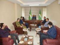 Yeniden Refah Partisi'nden HÜDA PAR Batman İl Başkanı Şahin'e 'hayırlı olsun' ziyareti