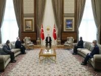 Cumhurbaşkanı Erdoğan Mescid-i Aksa İmam Hatibi Şeyh Sabri'yi kabul etti