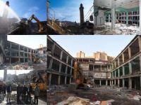 78 iş yerinin bulunduğu hal binasının yıkımıyla tarihi Şerefiye Camii gün yüzüne çıktı