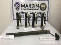 Mardin'de PKK operasyonunda havan rampası ile mühimmatı ele geçirildi