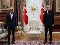Cumhurbaşkanı Erdoğan ile HÜDA PAR Genel Başkanı Sağlam görüştü
