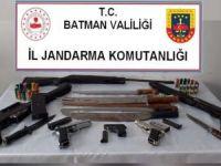 Batman'da çok sayıda silah ele geçirildi
