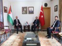 HÜDA PAR'dan Filistin Büyükelçiliğine ziyaret