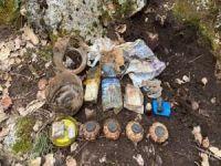 Çok sayıda mayın, el bombası ve roketatar mühimmatı ele geçirildi