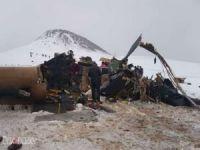 Helikopterin kaza yaptığı bölgede incelemeler sürüyor