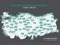 İllere göre haftalık vaka sayısının güncel haritası açıklandı