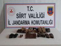 Siirt'te PKK mensuplarına ait mühimmat ele geçirildi