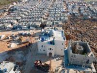 """İdlip'de çadırda kalanlar için başlatılan """"Briket ev"""" kampanyası devam ediyor"""