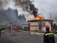 Türkiye Petrolleri tesisinde çıkan yangın korkuya sebep oldu