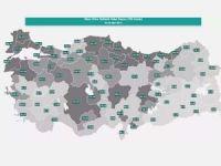 Sağlık Bakanlığı illere göre haftalık vaka yoğunluğu haritasını açıkladı
