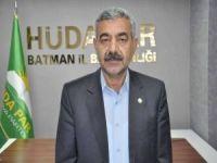 HÜDA PAR Batman İl Başkanı Şahin: Sağlık çalışanlarına destek olmalıyız