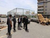 HÜDA PAR Gaziantep heyetinden fırtına mağduru site sakinlerine ziyaret