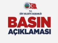 Siirt Belediyesi: HDP Milletvekili Beştaş'ın iddiaları tamamen yalan ve iftiradır