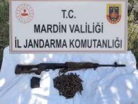 Mardin'de PKK operasyonunda keskin nişancı tüfeği ve mühimmat ele geçirildi