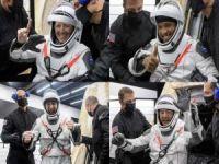 4 astronot 6 ay sonra dünyaya döndü