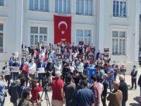 Siyonist işgalcilerin Mescid-i Aksa saldırısı Sakarya'da protesto edildi