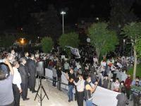 Batman'da halk bu akşam da Kudüs için meydanlara iniyor