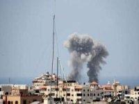 Siyonistler Gazze'deki El Şuruk Kulesi'ni vurdu
