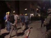 Siyonistler işgalcilerin sözde askerleri eşliğinde Filistinlilere saldırı hazırlığı yapıyor