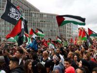 Siyonist işgalci rejimin saldırıları Almanya'da protesto edildi