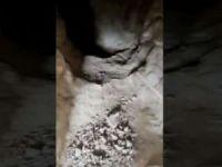 Pençe operasyonları bölgesinde bir mağara içindeki mühimmatla birlikte imha edildi