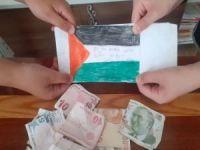 Çocuklardan örnek davranış: Kapı kapı dolaşıp Filistin için bağış topladılar