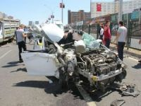 Diyarbakır'da trafik kazası: 4 ağır yaralı