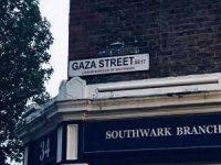İngiltere'de bir caddeye Gazze adı verildi