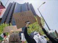 ABD'de Filistin'e destek gösterisi