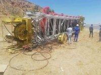 TPAO'ya ait kule aracı devrildi: Bir yaralı
