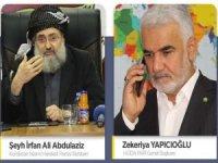 Yapıcıoğlu'ndan Kürdistan İslami Hareket Rehberi Abdulaziz'e taziye telefonu
