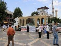 Minia Kudüs tırına Malatyalılardan yoğun ilgi