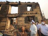Erbaş orman yangınında zarar gören camide incelemelerde bulundu