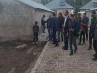 HÜDA PAR Van heyetinden sel mağdurlarına ziyaret