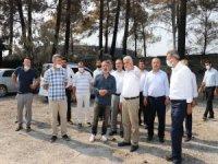 Yapıcıoğlu orman yangınlarının yaşandığı bölgeyi ziyaret etti