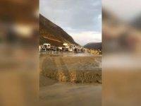 Erzincan-Sivas karayolu heyelan nedeniyle ulaşıma kapandı